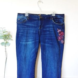 Kut from the Kloth Katy Boyfriend Embroidered Jean